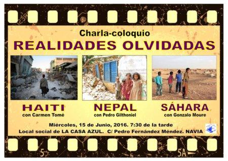 cartel REALIDADES OLVIDADAS Casa Azul redux
