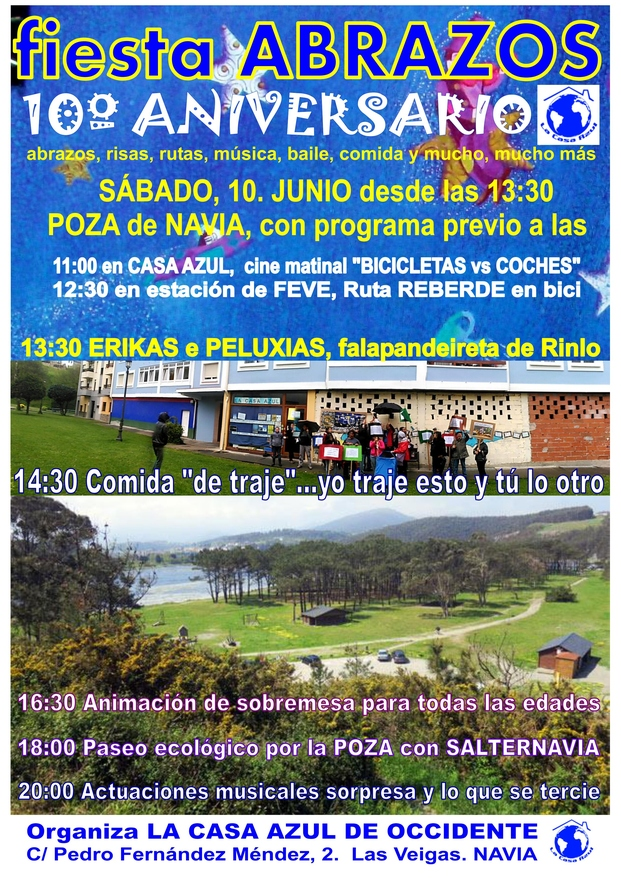 cartel 10 ANIVERSARIO ABRAZOS CASA AZUL REDUX